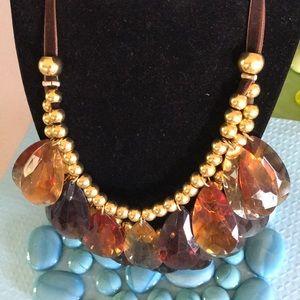 Large teardrop bead necklace